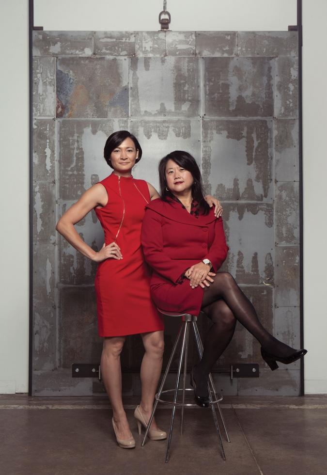 Bernadette Austin, project manager, Domus Development; and Meea Kang, president and founding partner, Domus Development
