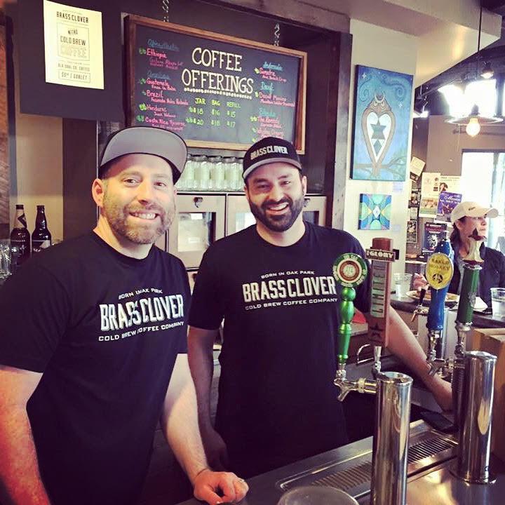 Monte Hudock (left) and Randall Echevarria (right) own Brass Clover in Sacramento. (Photo courtesy Randall Echevarria)