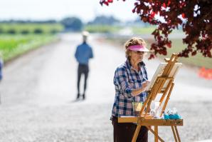 Mary Neri King, a Winters-based artist, participates in YoloArts' Arts & Ag project, formed to raise awareness of Yolo's rural farmland, history and the arts.