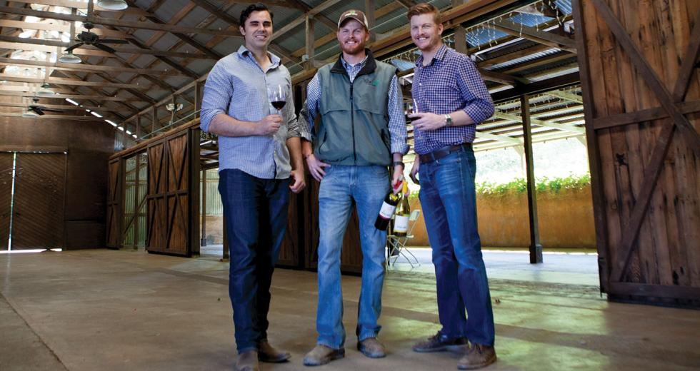 Tom Merwin and David and Phil Oglivie launched Muddy Boot Wine out of Clarksburg in 2014
