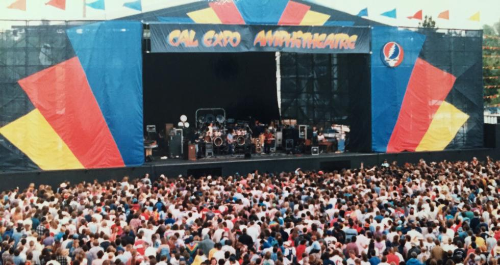 This photo of a Grateful Dead concert in 1986 shows Cal Expo in its heydey. (Photo by Bob Beyn)