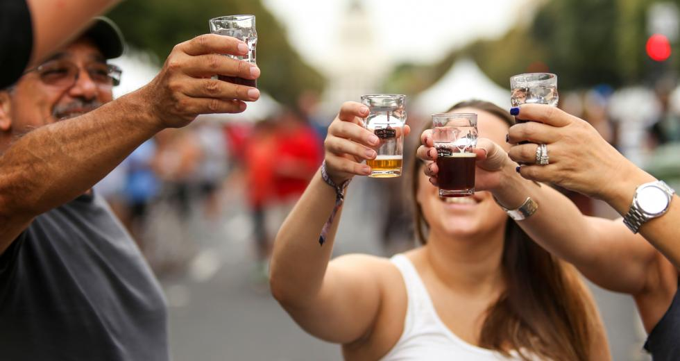 Attendees share a toast at last year's California Craft Beer Festival in Sacramento. (Photo courtesy California Craft Brewers Association)