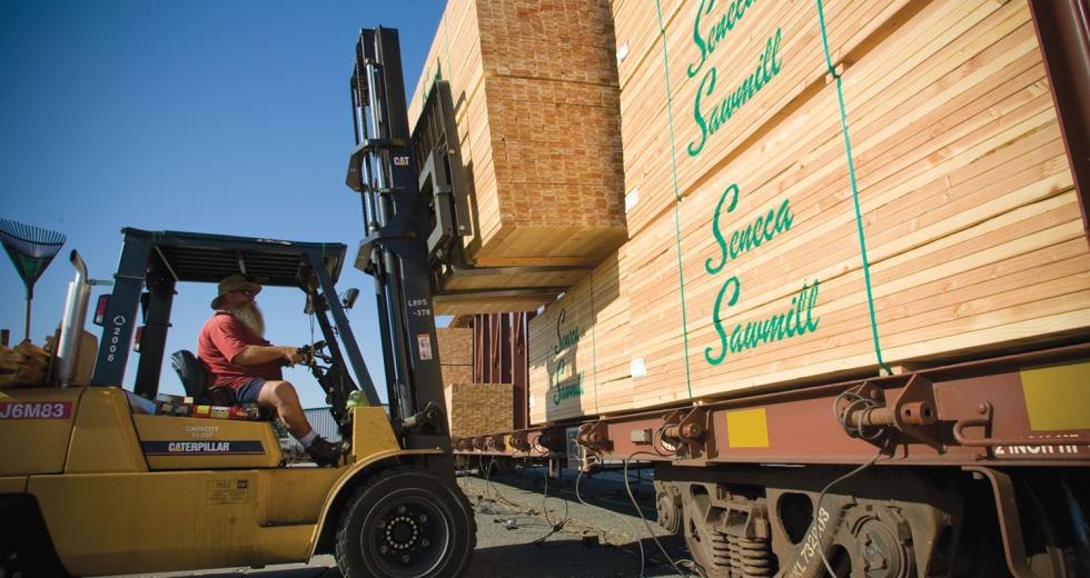 From May 2008 to May 2009 the price of lumber and plywood fell 13.8 percent nationwide, and suppliers such as Pacific Coast Building Products' Anderson Lumber are grappling with the aftermath.