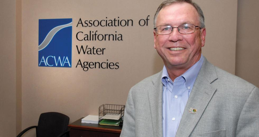 "Tim Quinn, executive director of the Association of California Water Agencies, says that desalination should be part of the state's water solution, however, ""You don't solve the problem by shifting it from one ecosystem to another.""