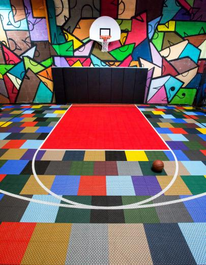 Basketball court at Big Hairy Dog