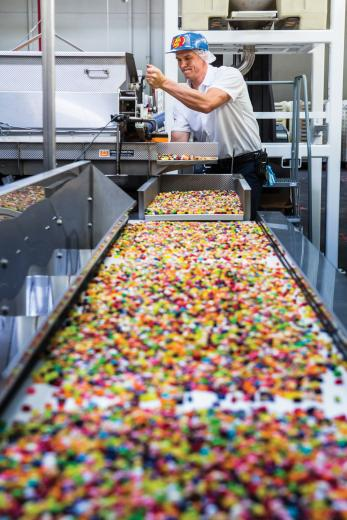 Production Supervisor Trevor Parkinson is the son of Jelly Belly Executive Vice Chair Lisa Brasher. The sixth-generation employee has been with the company for six years.