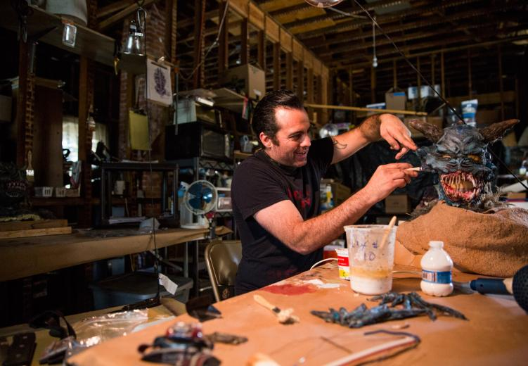 David Ainsworth is the creative mind behind Alchemy FX, a Sacramento-based special-effects studio that employs creative types and engineers to build costumes and illusions for local theaters and film producers