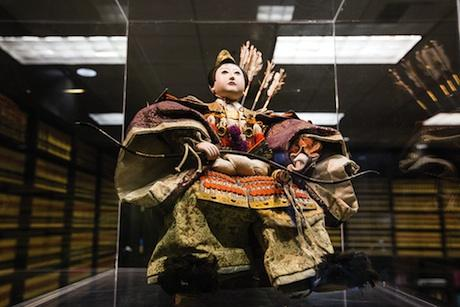 Trainor Fairbrook senior shareholder Charles Trainor describes the law firm's aesthetic as an integration of contemporary and antique Asian culture. This 18th century samurai warrior doll came from an antique store in San Francisco. In celebration of Boy's Day, the Japanese traditionally displayed warrior dolls and hung kites from poles outside their homes.