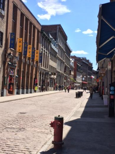 walking the streets of Montreal, Canada