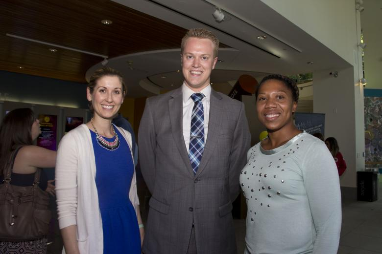 Katie Peterson, community impact manager, Sacramento Kings; Clark Jorgensen, community impact Coordinator, Sacramento Kings and Jessica Clark, community impact intern, Sacramento Kings.