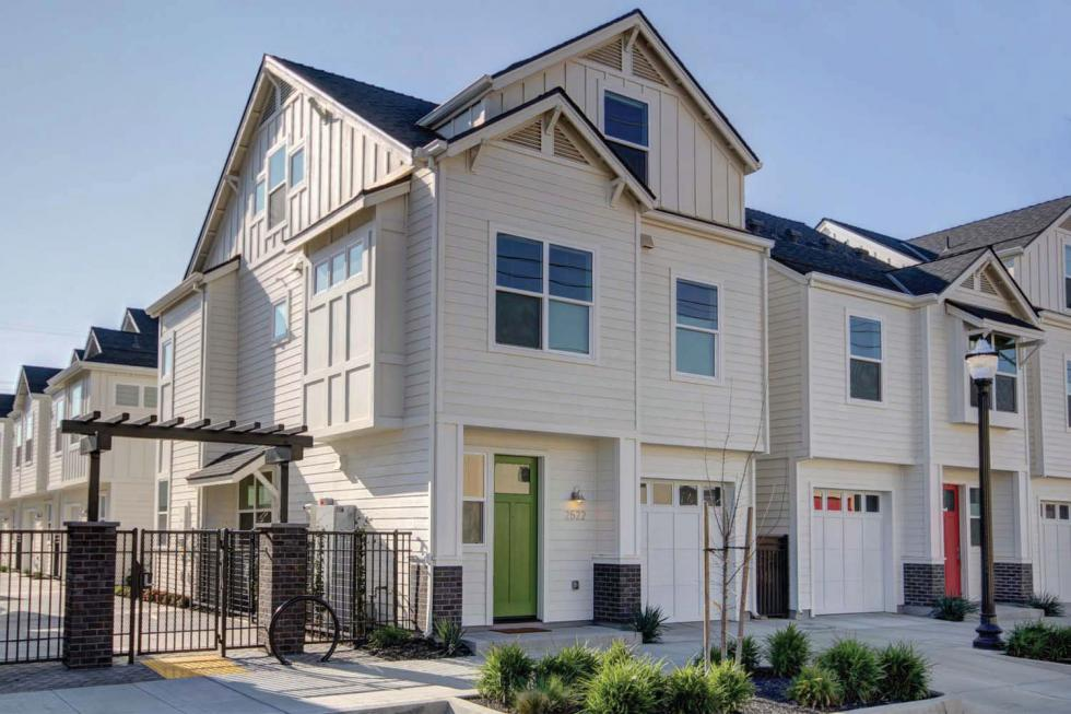 The new 2500 R Street community features the first 34 net-zero-energy homes in midtown Sacramento.