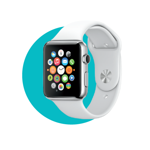 AppleWatch, set to hit the market this April, offers fitness tracking, integrates with iOS 8 devices like the new iPhone 6 and 6 Plus. Estimated retail cost: $349
