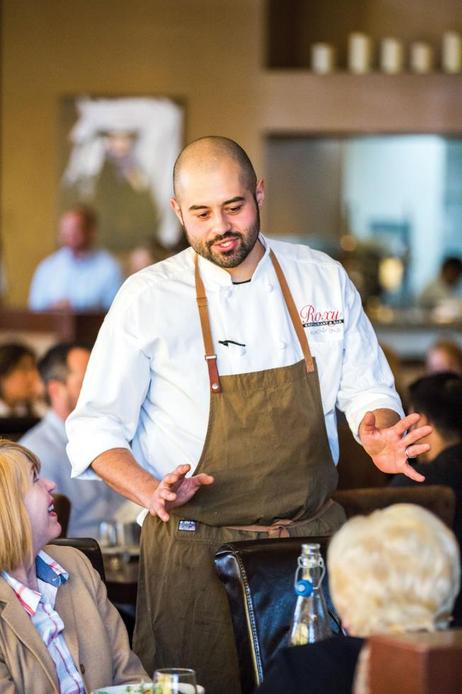 Chef Danny Origel connects with customers on the floor at Roxy Restaurant & Bar in Sacramento.