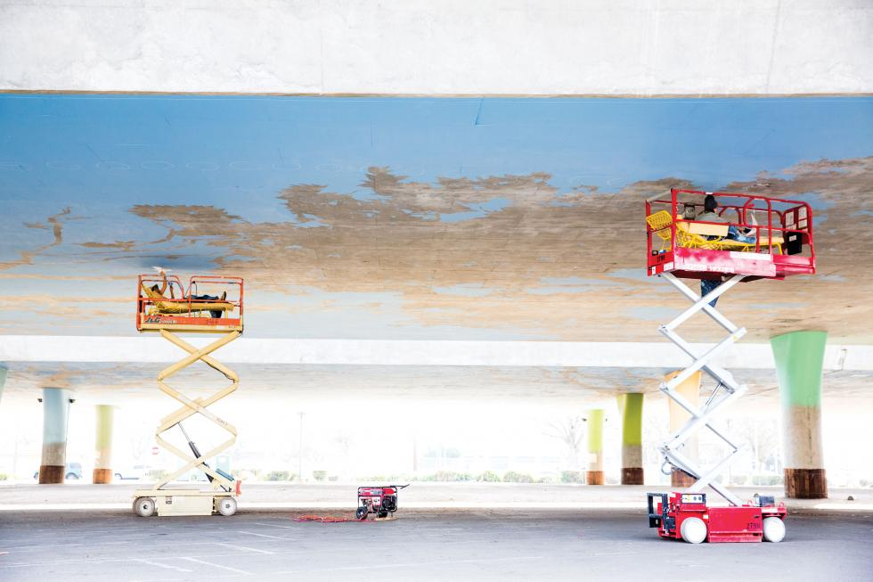 Bright Underbelly, the 70,000-square-foot mural being painted beneath the overpass at W and X streets, will reflect the region's farm-to-fork pride.