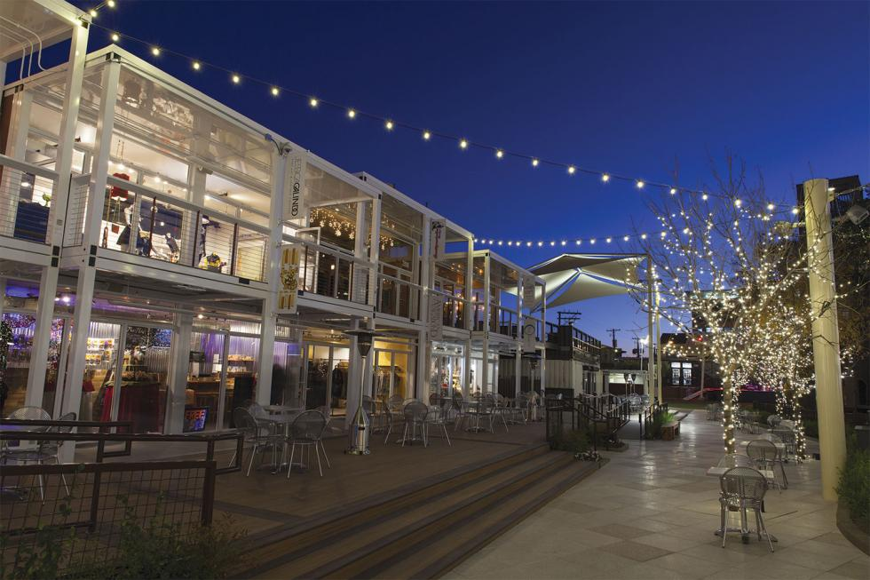 The Container Park is the centerpiece of Las Vegas' Downtown Project, a $350-million, 60-acre development funded by Zappos CEO Tony Hsieh. Only first-time business owners, not large companies, can open shops here. 