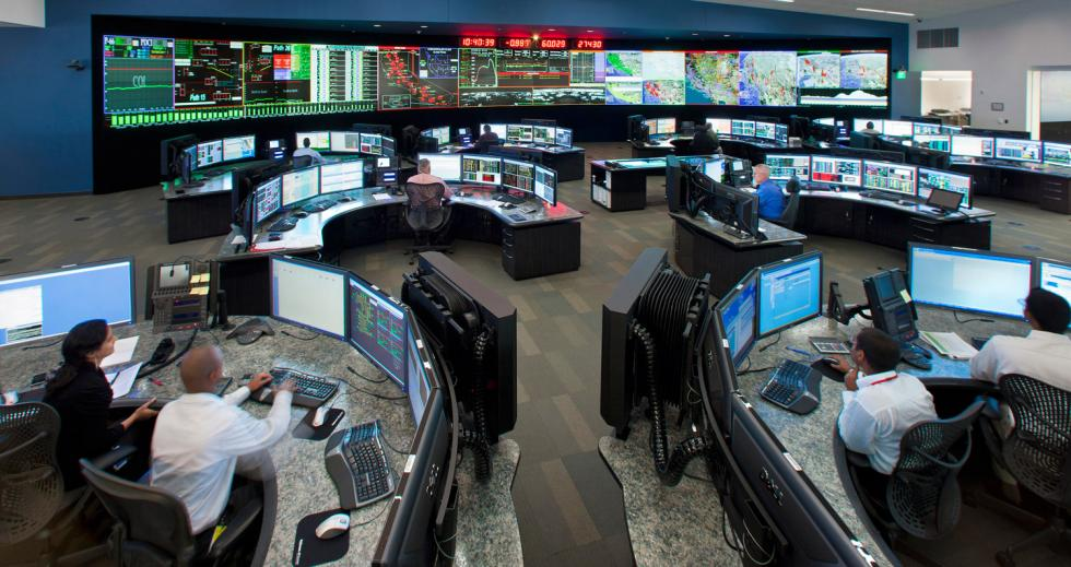 The control room of Cal-ISO in Folsom where 80 percent of California's electrical grid is managed. (Photo courtesy of Cal-ISO)