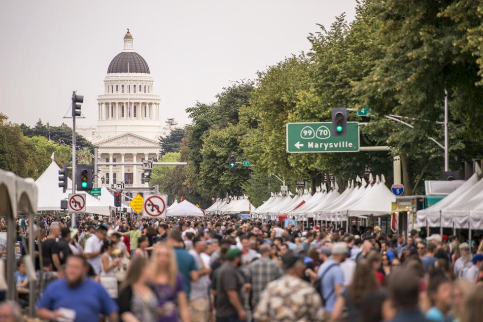 This year's California Craft Beer Festival will once again take place on Capitol Mall.(Photo courtesy California Craft Brewers Association)