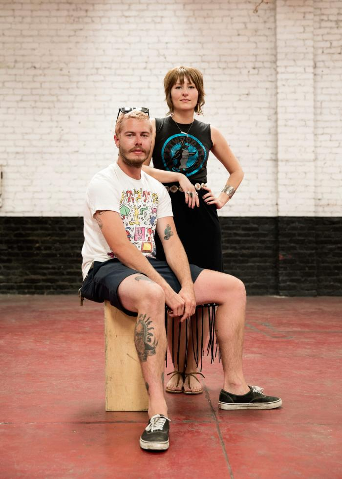 "Garrett Daniells (24) and Amy Sieffert (33). Daniells says that while Egkan was connected to people from a wide range of backgrounds and industries, ""he knew his people and his people were the creatives here."" Sieffert says that ""we're all trying to figure out how to go forward"" since Egkan's death late last summer."