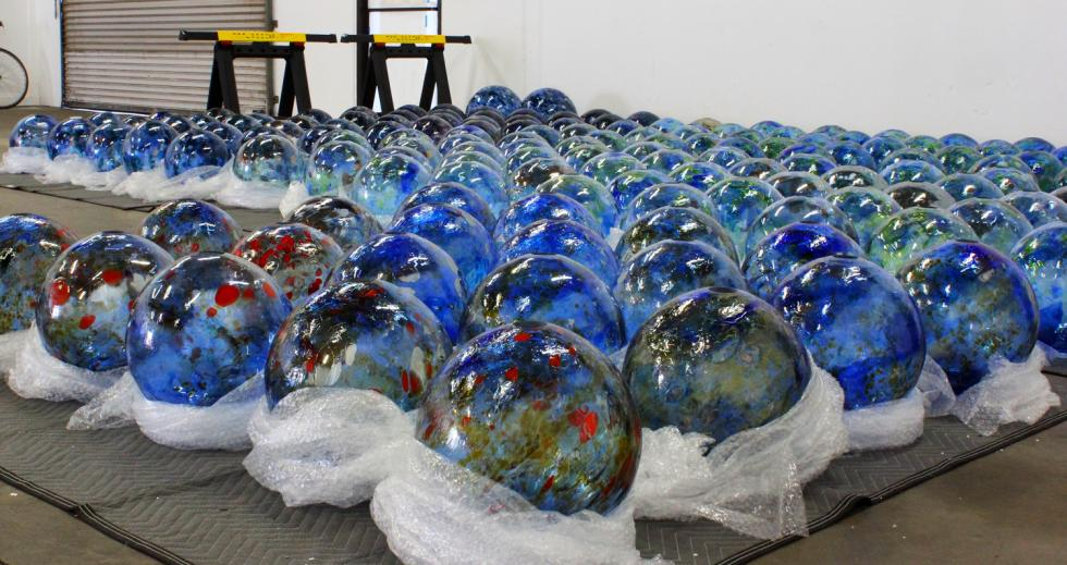 """Multitudes Converge"" will incorporate 400 glass blown spheres."