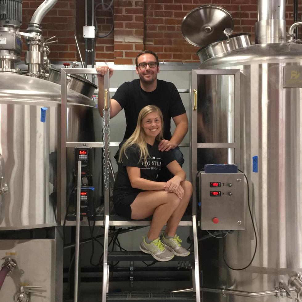 Larissa Meltz and Alex Larrabee own and operate Big Stump Brewing Company in Midtown Sacramento. (Photo courtesy Big Stump Brewing Co.)