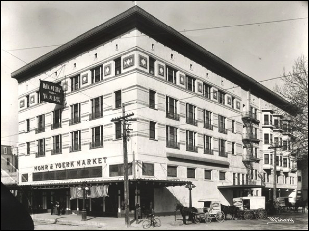 The M.A.Y. Building in its heydey in downtown Sacramento.