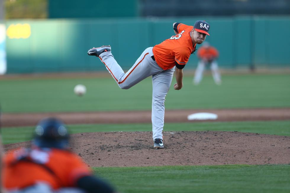Sacramento River Cats pitcher Chris Stratton was called up to the Giants this season and pitched a total of 10 innings. (Photo courtesy Sacramento River Cats)