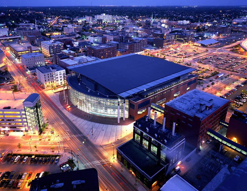 The Van Andel Arena in Grand Rapids, Mich., which opened in October 1996, brought in 255,000 new visitors in just one year. (shutterstock)