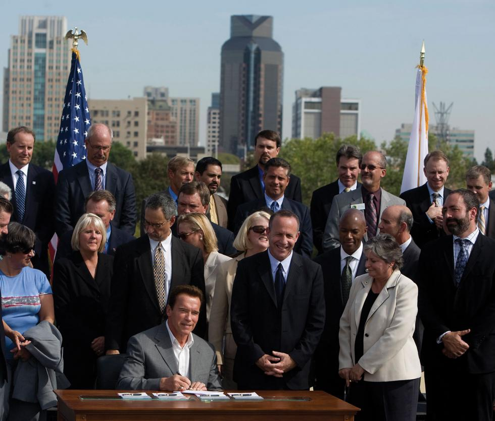 Gov. Arnold Schwarzenegger signed SB 375 in 2006.