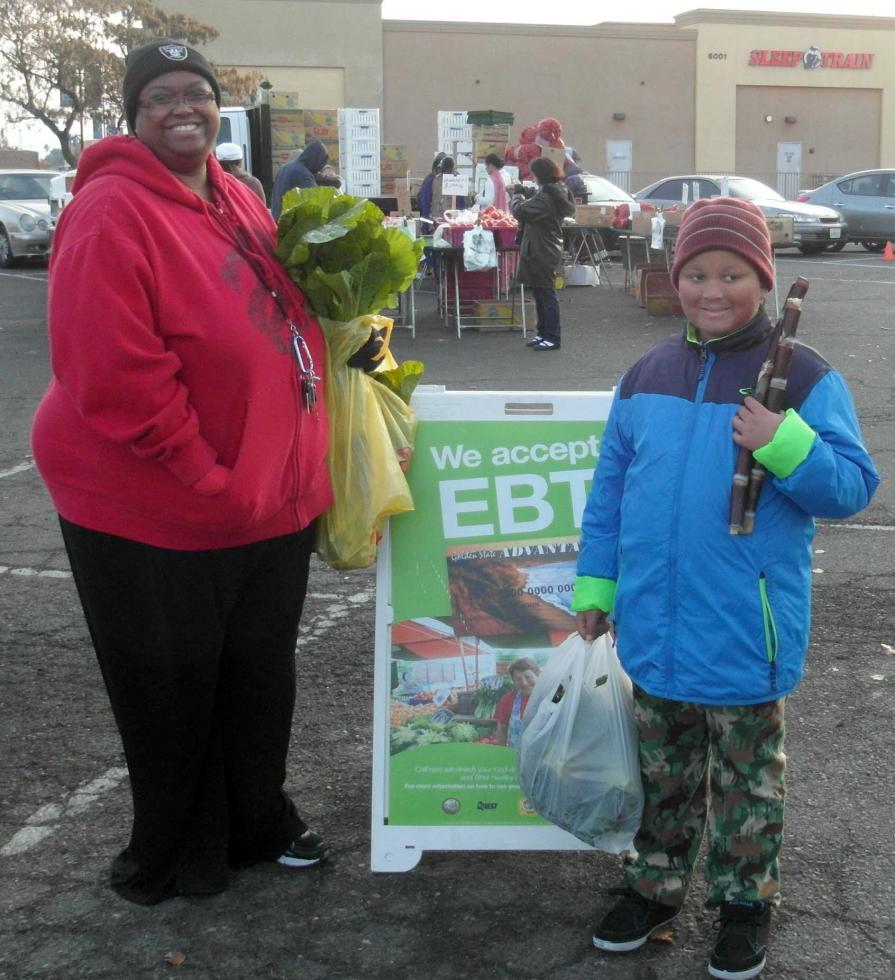 The farmers market on Florin Road accepts CalFresh and EBT