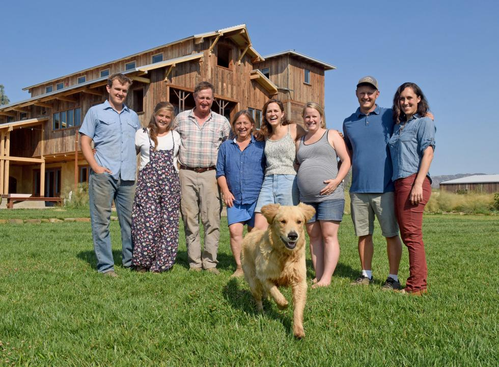 From left: Rye Muller, Becca Muller, Paul