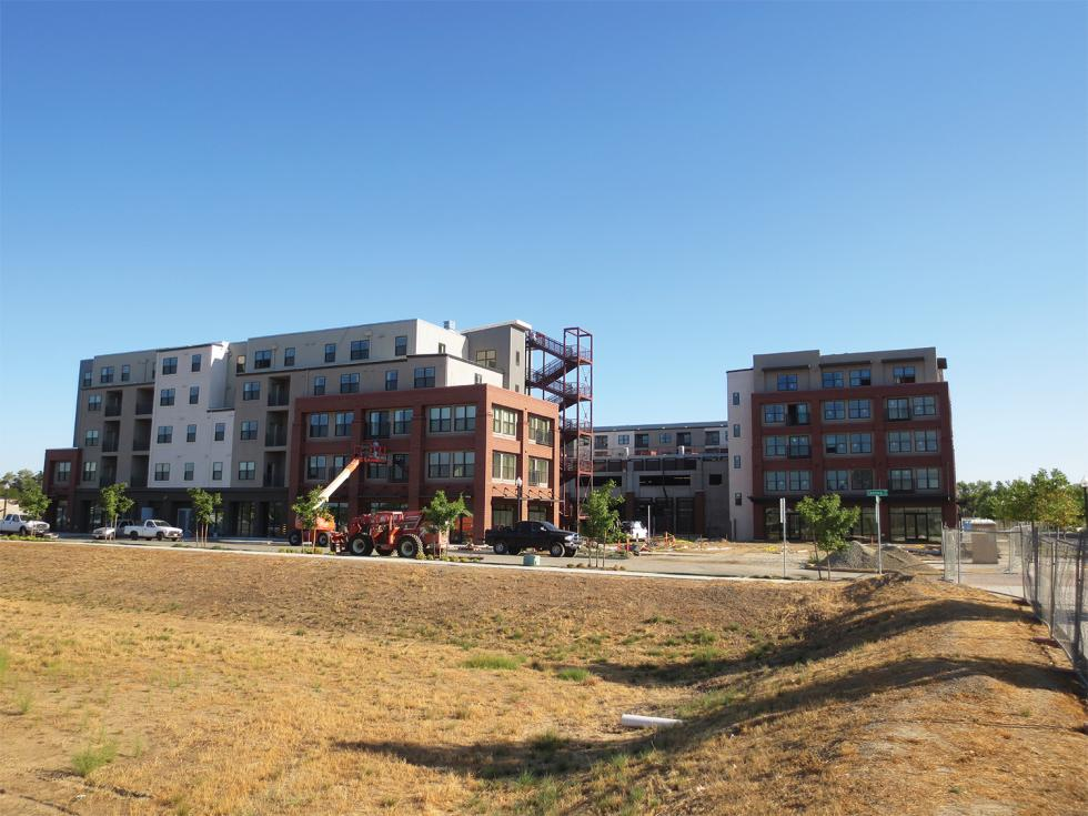 Cannery Place, a 180-unit apartment complex, is the first residential phase to open in Township 9. Sacramento officials hope more than 2,300 apartments and townhouses will eventually rise at the development.