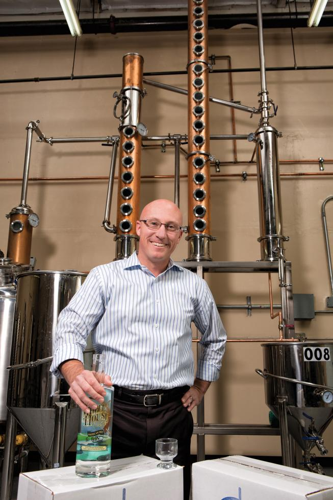 Greg Baughman produces Wheel House American Dry Gin, a craft spirit, at his microdistillery in Rancho Cordova.