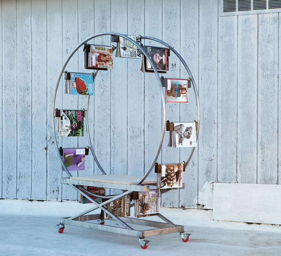 Marshall's fantastical magazine rack will call VSP's The Shop home.