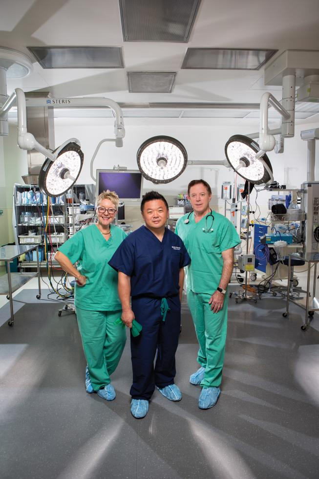 Drs. Diana Farmer, Shinjiro Hirose and David Schrimmer are leading the new Fetal Surgery Center for the UC Davis Health System.
