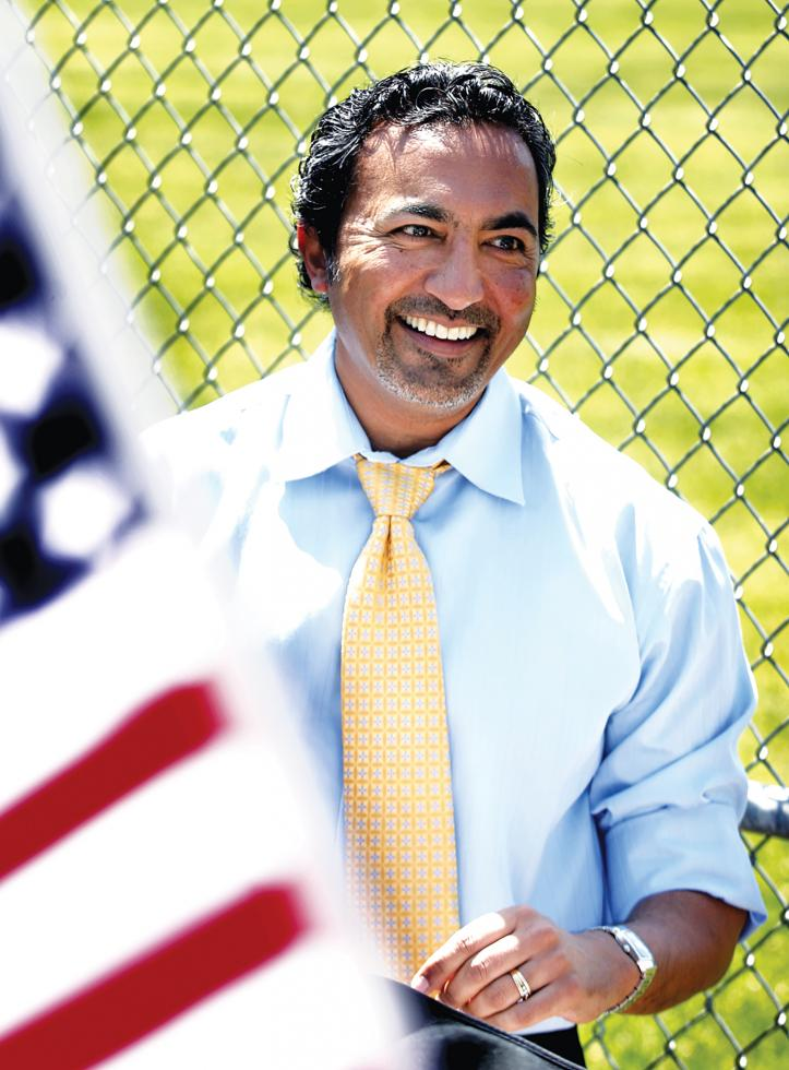 Candidate Ami Bera, an internist and former chief medical officer for Sacramento County, is running against Dan Lungren for Congress.