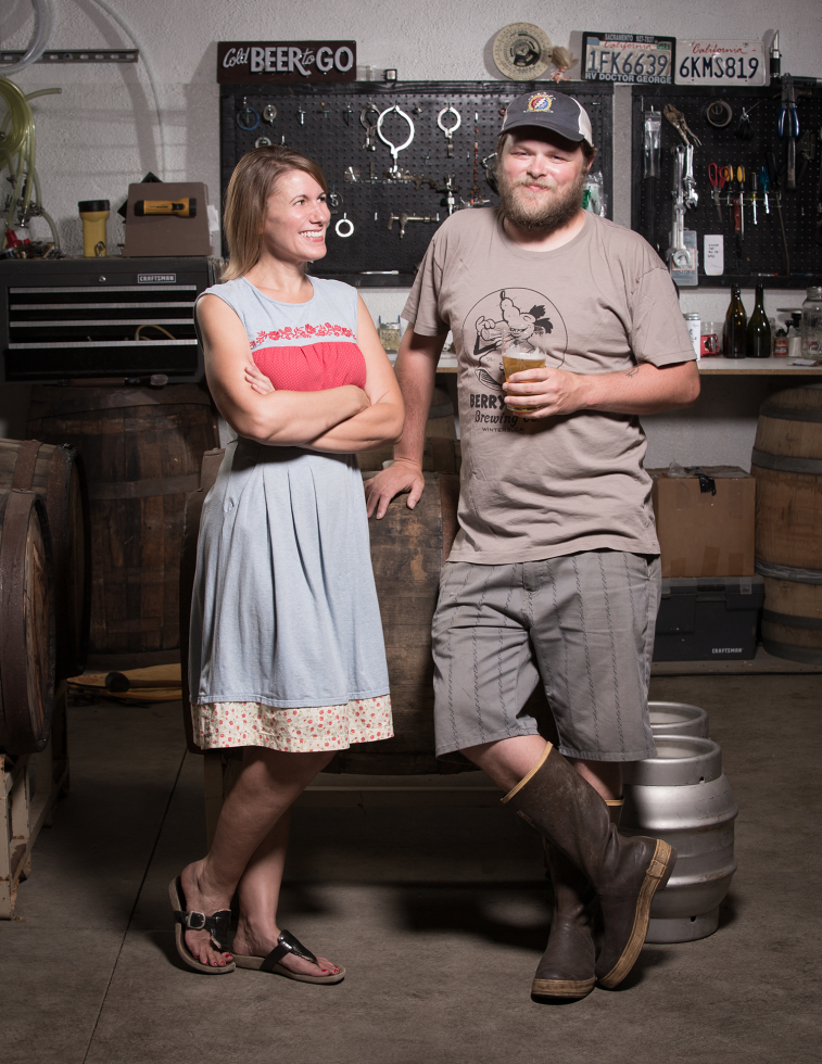 Chris and Lori Miller, owners, Berryessa Brewing Co.