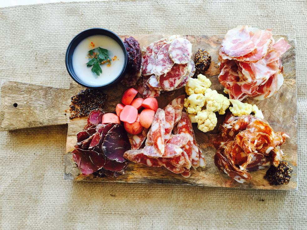 Charcuterie curated by Chef Brock MacDonald of LowBrau