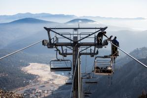 The final weeks before snowfall are crunch time at Squaw Valley and Alpine Meadows.
