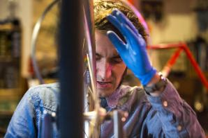 Addison Quarles opened Addison's Bicycle Reparium on S Street in midtown Sacramento in April of 2013.