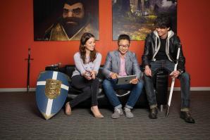 Loren Rozakos, lead human resources business partner; Mark Otero; and Robert Blair, director of studio operations (Capital Games) at Electronic Arts.