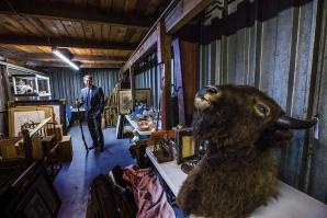 Brian Witherell at home in his treasure trove