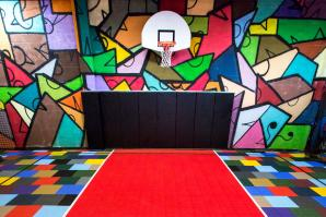 Basketball court at Big Hairy Dog