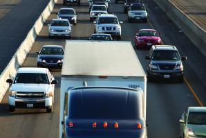 Interstate 80 through Roseville during rush hour