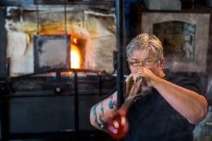 "Ask Shannon Morgan how long it takes to create a single goblet or bowl, and she'll likely tell you, ""About 20 years plus 20 to 40 minutes."" The 53-year-old owner of Girl Glass is one of the few females in the glass-blowing industry, but she's been making a living at her craft and expanding her four-woman business in Sacramento for more than two decades."