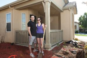 David Andrews and Laura Deutsch qualified for a mortgage 9 percent above what they paid for their new home in West Sacramento.