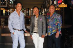 Left to right: Alan, Mason and Curtis Wong own six restaurants in Sacramento.