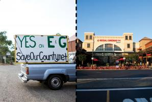 Slow-growth advocates, like members of SaveOurCounty, urge residents to support Measure E and Measure G on the June ballot. / Kevin Nagle, co-partner for the El Dorado Hills Town Center (pictured), says he'll push for affordable housing to generate a tax base to attract the employers and small businesses that will fund services in the growing county.