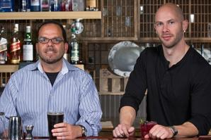 Fahrenheit 250 co-owner Ray Lettini and bar manager Brad Morlock