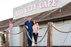 Mark and Stephanie Miller own Rio City Cafe in Old Sacramento.