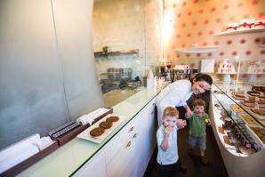 Ginger Hahn found work/life balance by opening her own company, Ginger Elizabeth Chocolates.